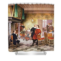 A Convivial Meeting Of The Brewers Shower Curtain by Louis Haghe