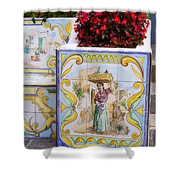 A Cool Seat On Capri Shower Curtain