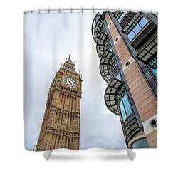 Shower Curtain featuring the photograph A Corner In London by Tim Stanley