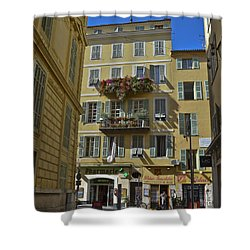 Shower Curtain featuring the photograph A Corner In Nice by Allen Sheffield