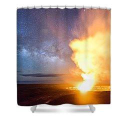 A Cosmic Fire Shower Curtain