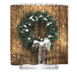 A Country Christmas Shower Curtain