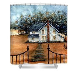 A Country Home Shower Curtain by Janine Riley