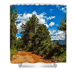 A Country Road In Colombia. Shower Curtain by Jess Kraft