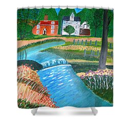 A Country Stream Shower Curtain by Magdalena Frohnsdorff