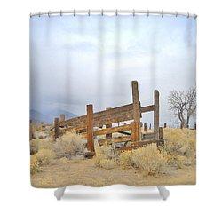 A Cowboys Echo Shower Curtain by Marilyn Diaz
