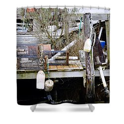 A Crab Fishermans Still Life Shower Curtain