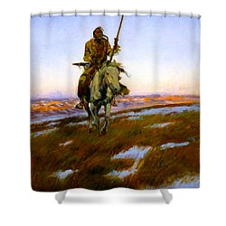 A Cree Indian Shower Curtain