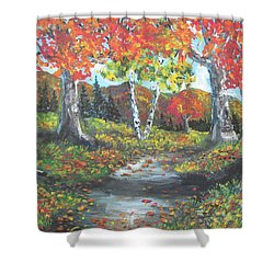 A Crisp Afternoon Shower Curtain