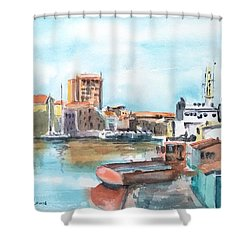 A Curacao Morning Shower Curtain