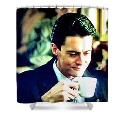 A Damn Fine Cup Of Coffee Shower Curtain by Luis Ludzska