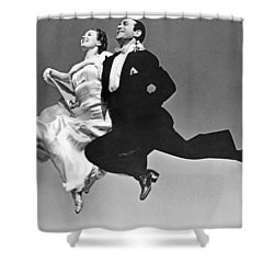 A Dance Team Does The Rhumba Shower Curtain by Underwood Archives
