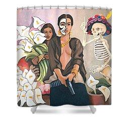 A Dangerous Woman Shower Curtain