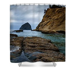 A Day At Cape Kiwanda Shower Curtain