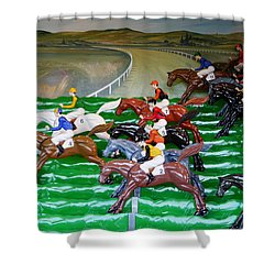 A Day At The Races Shower Curtain by Richard Reeve