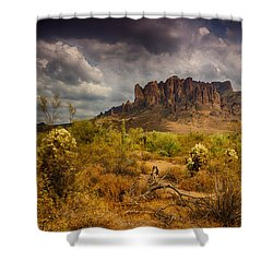 A Day At The Superstitions  Shower Curtain