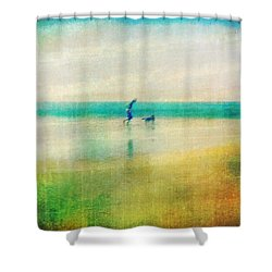 A Day By The Sea Shower Curtain by Suzy Norris