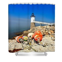 A Day Off Shower Curtain by Adam Jewell