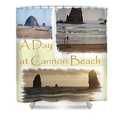 A Day On Cannon Beach Shower Curtain