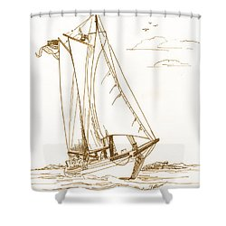 A Day On The Bay Shower Curtain