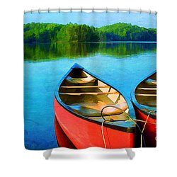 A Day On The Lake Shower Curtain by Darren Fisher