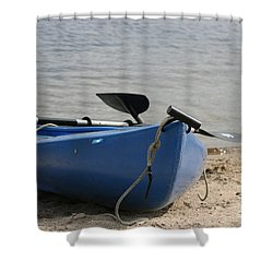 A Day On The Water Shower Curtain by Barbara Bardzik