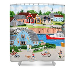 A Day With Dad Shower Curtain by Wilfrido Limvalencia