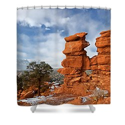 A December Morning Shower Curtain