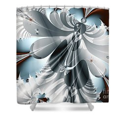 A Deeper Reflection Abstract Art Prints Shower Curtain