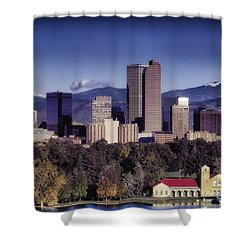 A Denver Autumn Shower Curtain