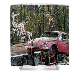 Shower Curtain featuring the photograph A Difference Sleigh  by Donna Brown
