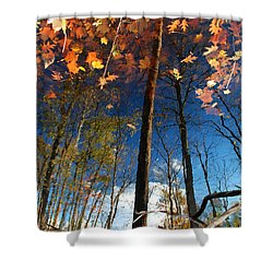A Different Side Of Autumn Shower Curtain