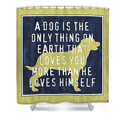 A Dog... Shower Curtain by Debbie DeWitt