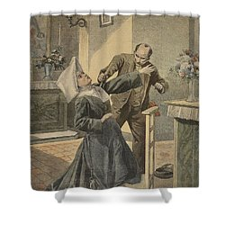 A Drama In An Asylum Assassination Shower Curtain by French School