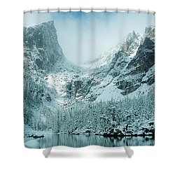 A Dream At Dream Lake Shower Curtain by Eric Glaser