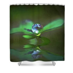 A Dream Of Green Shower Curtain
