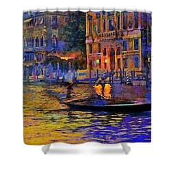 A Dream Of Venice Shower Curtain by Steven Boone