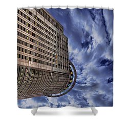 Shower Curtain featuring the photograph A Drifting Skyscraper by Ron Shoshani
