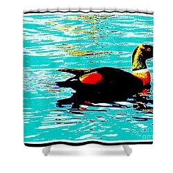 A Duck Is A Duck In A Pond Shower Curtain