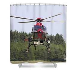 A Eurocopter Ec135 Used By German Shower Curtain by Timm Ziegenthaler