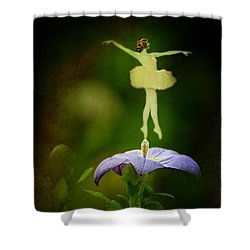 A Fairy In The Garden Shower Curtain by Rebecca Sherman