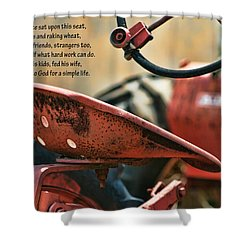 A Farmer And His Tractor Poem Shower Curtain