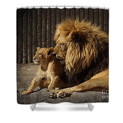 Shower Curtain featuring the photograph A Father's Love by Inge Riis McDonald