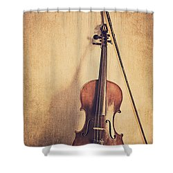 A Fiddle Shower Curtain