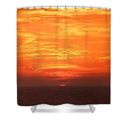 A Final Splash Of Color Shower Curtain by Mariarosa Rockefeller