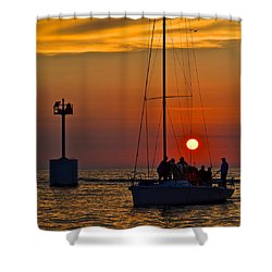 A Fine Days End Shower Curtain by Frozen in Time Fine Art Photography