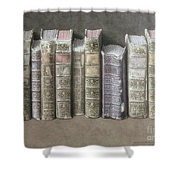 A Fine Library Shower Curtain by Jonathan Wolstenholme