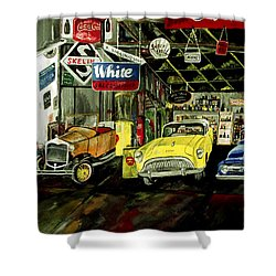 A Fine Time  Shower Curtain by Mark Moore