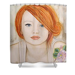Shower Curtain featuring the painting A Fire In The Soul by Malinda  Prudhomme