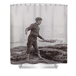 A Fisher Laddie Shower Curtain by James Patrck